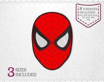 Spiderman Applique Machine Design - 3 Sizes - INSTANT DOWNLOAD - Applique, Embroidery, Designs