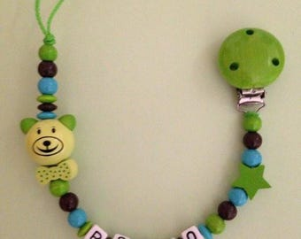 "Personalized pacifier ""Teddy"""