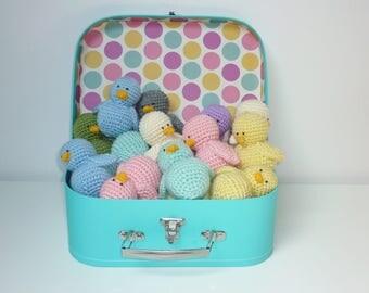 Poussin Multicolore fait main au crochet, décoration ou jouet
