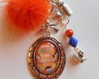 "Bag charm, door keys/nanny ""/La more OWL nannies"" / birthday/year end gift /fete/ thanks"