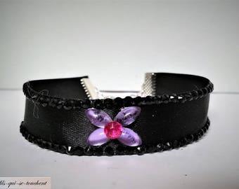 Rhinestone Ribbon Bracelet