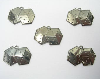 LOT 5 METALS black CHARMS: de playing 15mm