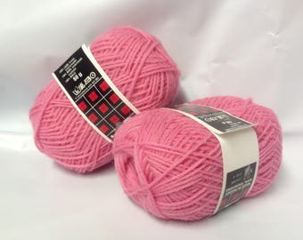 lot 10 balls pure wool / rose / made in FRANCE