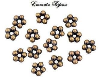 bronze 20 rondelle spacer beads 5 mm