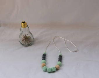 Necklace food silicone beads.