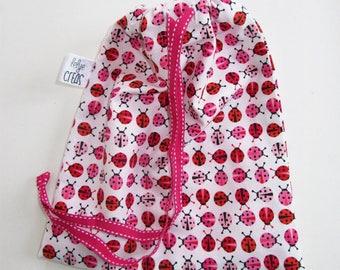 "Bag pattern ""Ladybug"" with Ribbon"