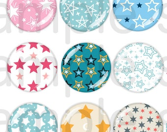 60 Digital Pictures Stars 13-18mm / 18-25mm / 20mm / 25mm