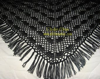 Large crocheted shawl