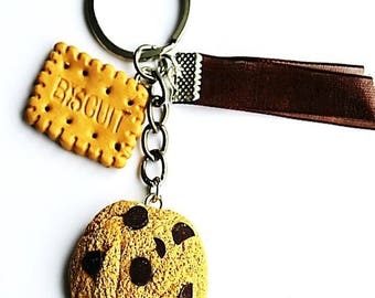 cookie and biscuit keychain