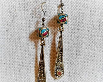 Ethnic chic earrings