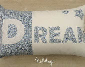 """Dream"" in STOCK Liberty rectangular Cushion cover"