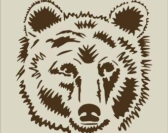 Stencil adhesive vinyl (ref 144) bears head