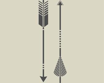 Stenciled arrows. Indian arrows. Adhesive vinyl stencil. (ref 180)
