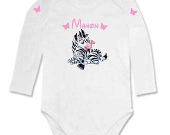 Bodysuit little Zebra personalized with name