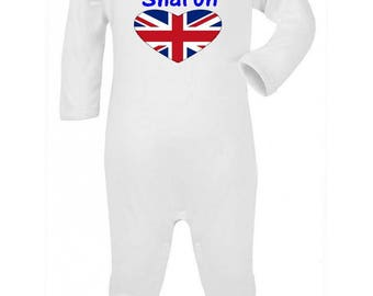 Personalized with name London baby pajamas