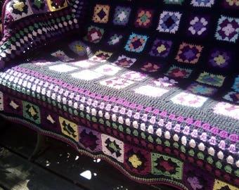 """Idaho"" multicolor granny crochet blanket"
