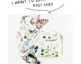 10 stunning cards postcards original Butterfly send mix colors shapes and sizes