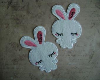 Fusible badge / White Rabbit