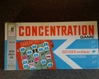 Vintage Board Game CONCENTRATION A Milton Bradley Game Made in Australia
