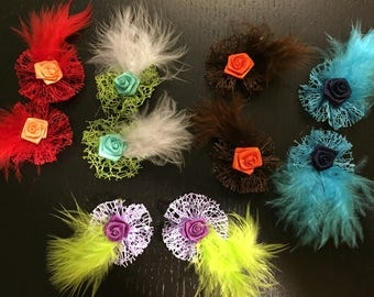set of 10 loosening to customize your creations, embellishment purse, hairclip, brooch lot n1