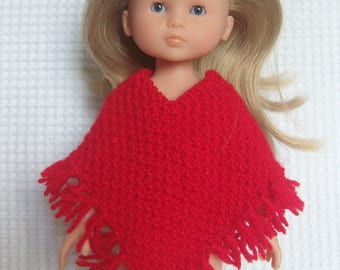 Red poncho for the sweethearts doll