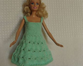 Openwork Barbie doll dress.