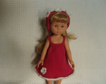Clothing, pink dress and the sweethearts doll white flowers headband