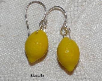 Fruit Tart lemon silver studs earrings Sterling jewelry on etsy for girl baby girl