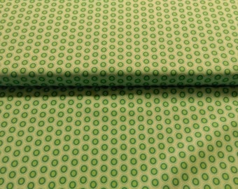 Green Oval Elements Peacock fabric