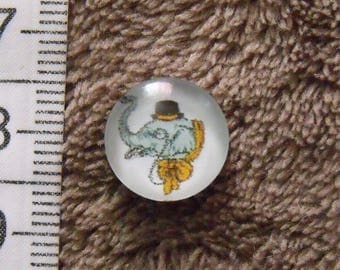 3 glass cabochons Elephant theme 12mm