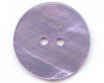 Set of 3 purple mother of Pearl buttons 20mm satin