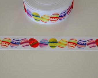 """Ribbon gros-grain """"Easter eggs"""" 22mm"""