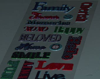 stickers stickers scrapbooking Word FAMILY