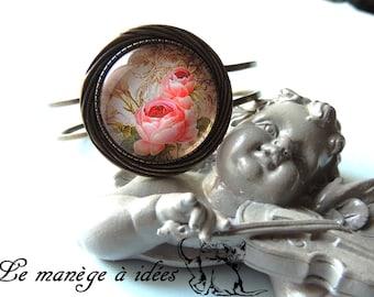 """Bracelet braided """"Old roses"""" bronze metal"""
