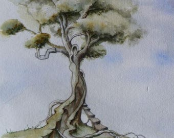 A universe... inspired by a tree 2 watercolor painting