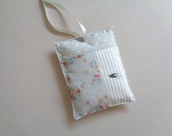 Door print cotton patchwork cushion