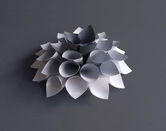 Flower Decorative Dahlia wall or table light/dark grey Pearl White other colors possible wedding christening 20cm
