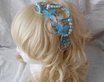 LYLA turquoise & Pearl headband