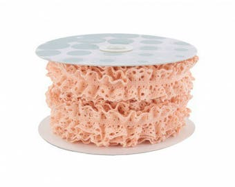 24 mm nude elastic cotton lace