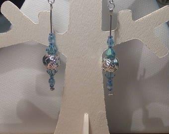 Earrings - Blue Roses