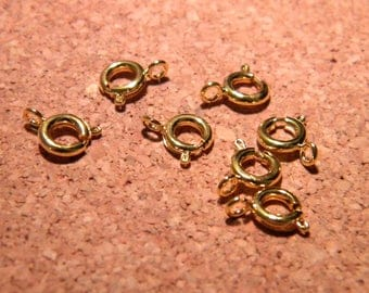 10 ring clasp buoy-Gold - 6 mm for necklaces and Bracelets - AC43