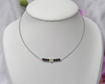 Wedding Choker Pearl swarovski black Crystal beads and Crystal beads