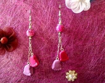 fimo earrings small feet