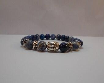 sodalite and Buddha bracelet