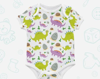 Dinosaur for baby Infant suit Trendy baby clothes Baby dino Short sleeve bodysuit Organic bodysuit Organic baby clothes Romper suit 001