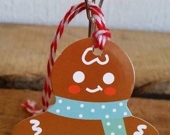 Set of 5 gift tags (6.5 x 6 5cm) Christmas snowman