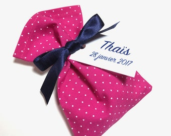 10 bags of sweets personalized polka dot fabric