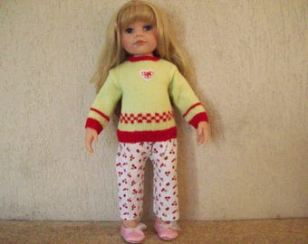 clothes for dolls from 50 cm, cotton dress, gotz, maru and friends(pantalon et pull) compatible