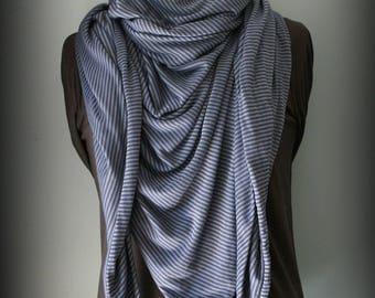Trendy Bue Stripe stole scarf shawl scarf cheich