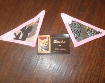Faux leather for extra small dog or cat bandana